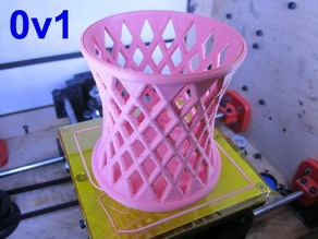 Hyperboloid with base, desktop pen holder