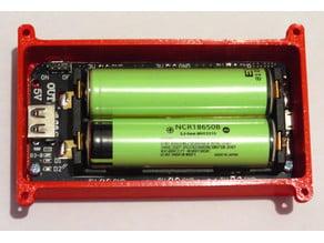 Box for 2x18650 batteries shield