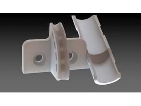 i3 Mega Ultrabase - Extruder Cableguide (remix)