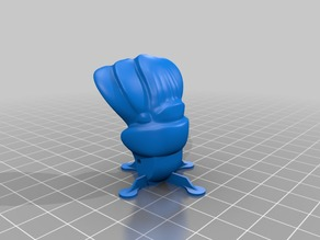 Crayfish tail with printing supports