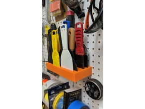 Putty Knife Holder for Pegboard