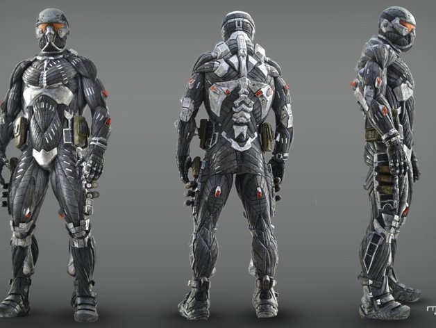 Crysis Ps3 Nanosuit By Haqbany Thingiverse
