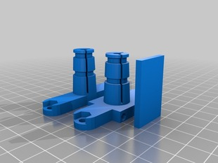 Modified Rostock Bowden Clamp for 1.75mm and MakerGear Hotends w/Zipties