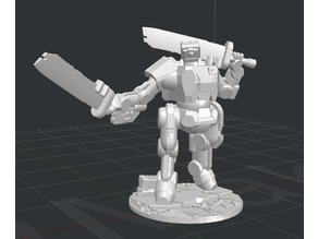 Brontes Heavy Assault Robot - Dual Wield (28mm scale)