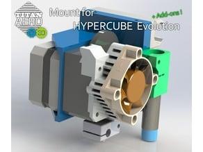 Titan Aero head mount for Hypercube Evolution + Addons