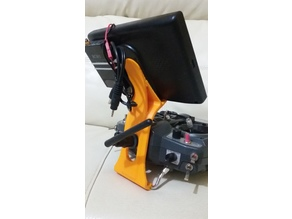 FPV Screen Holder for Turnigy or FrSky 9x radios.