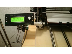 LCD mount, movable arm - Geeetech i3 B/C (v2.0)