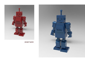 Mini Robot Miniature Toy