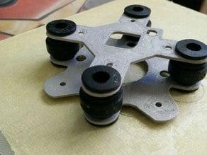 Naze32 or similar 35mm (30.5mm mount hole distance) flight controller anti-vibration platform
