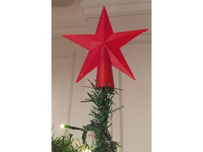 Christmas Tree Star Topper (print in one go w/ incl. supports)