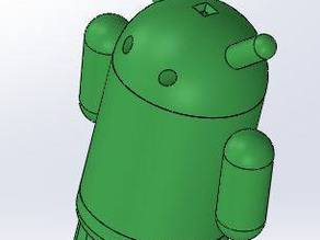 3D Android Mascot - Flashlight