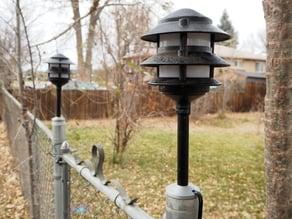 Foot/holder for garden lights - turn them into post lights!