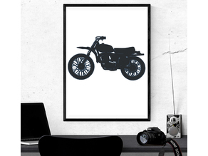 Motorcycle - 2D Wall Art