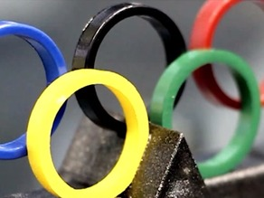 Olympic Rings with Stand  |  Sochi 2014 Olympics