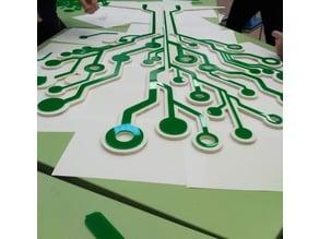 Digital tree laser cut