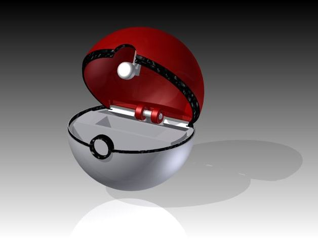 poke- ball pokemon card holder by usnavy7