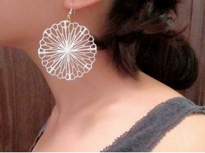 Mathematical Art: Crumpled Circle (Earrings)