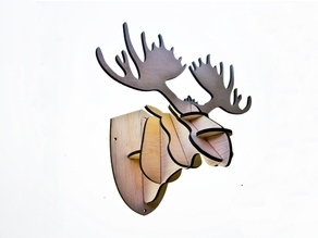 Moose Head Jewelry Stand