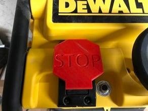 Bouton STOP arrêt d'urgence - Dewalt DW745
