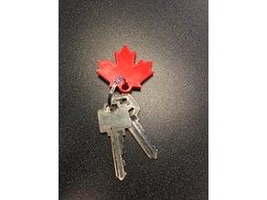 Maple Leaf - Canada Keychain