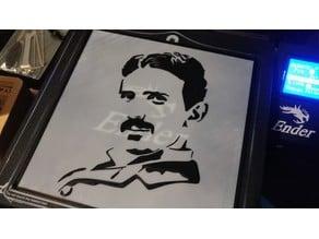 Nikola Tesla artwork ( 200x200 BW image - filament exchange required)