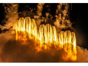 SpaceX - Arabsat-6A Mission Launch Lithophane