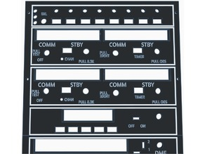 Cessna 172 Radio Stack Faceplate
