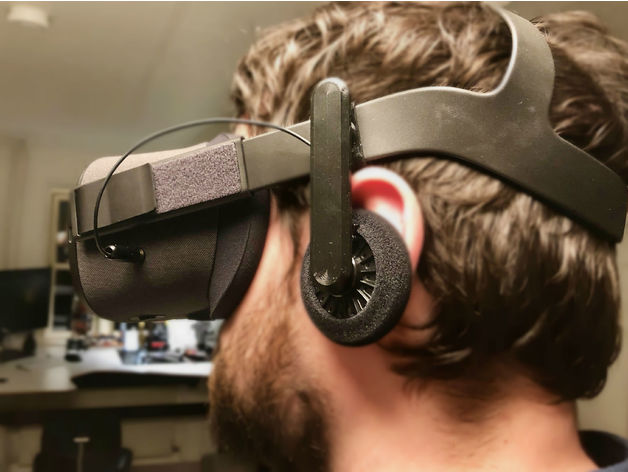 Oculus Quest On-Ear Headphones by brianfroelund - Thingiverse