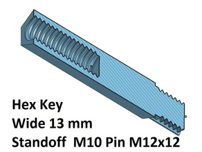 Hex 13 Spacer, Standoff 20, 30, 40, 50, 60, 70, 80, 90, 100 mm; M10 Pin M12
