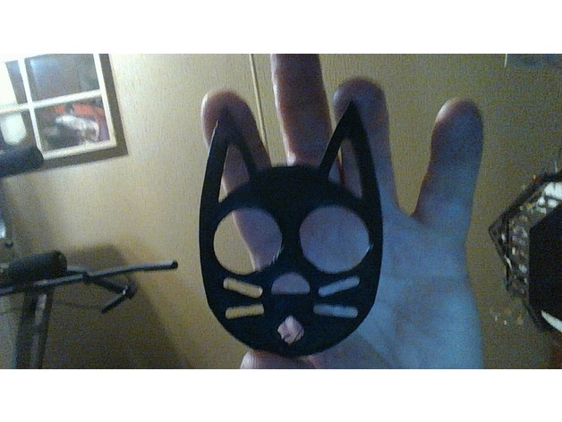 Makes Of Black Cat Self Defense Keychain By Toddcarr Thingiverse