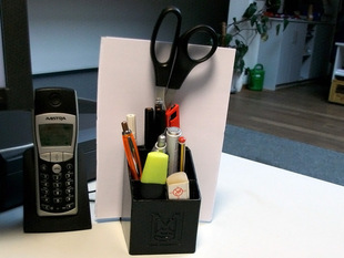 Office organizer with paper stand