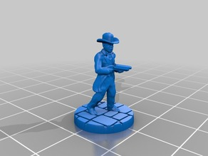 Peaky Cowboy with Shotgun