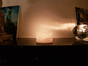 Lithiphane stand for candle
