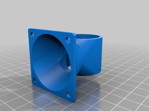 My Customized Fan Duct V1.1 for All Metal Hot End and 40mm fan