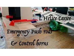 Emergency Push Rods and Control Horns - L'Hélice Cassée