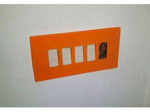 Placca plaque bticino magic 5 & 3+3 posti places