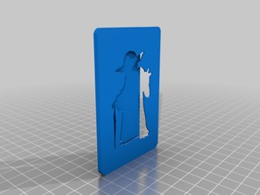 Yoda card holder w/ space to avoid damage the magnetic stripe