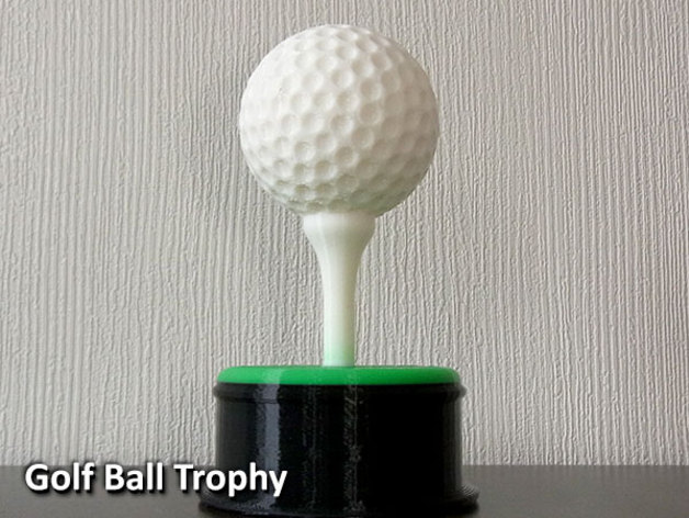 Golf Ball Trophy By Muzz64 Thingiverse
