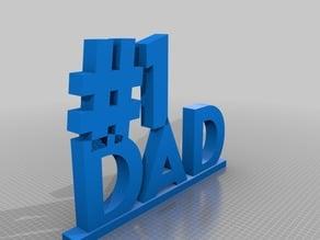 #1 Dad nic-nac