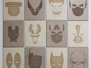 Minimalist Superhero MDF Posters