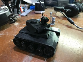 RC Mini Panzer Tank with working suspension