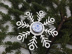 Snapple Cap Snowflake Ornament