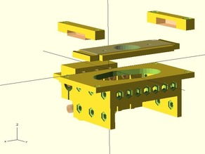 Quick-Fit X Carriage for @Printrbot - OpenSCAD