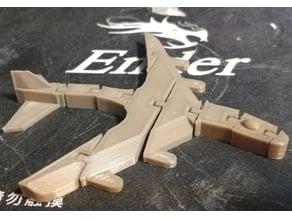 Articulated Airplane w Rudder