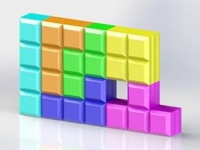 Customizable Modular Tetris Shelves