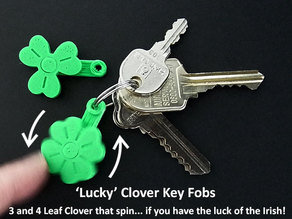 'Lucky' Clover Spinning Key Fobs