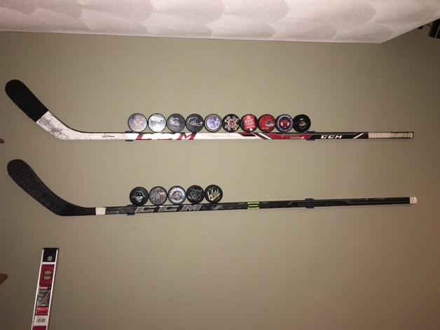 Hockey Stick Wall Mount By Idnarbjm Thingiverse