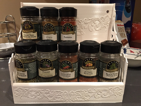 Spice Rack - Made to fit 10 McCormick - Gourmet spice bottles