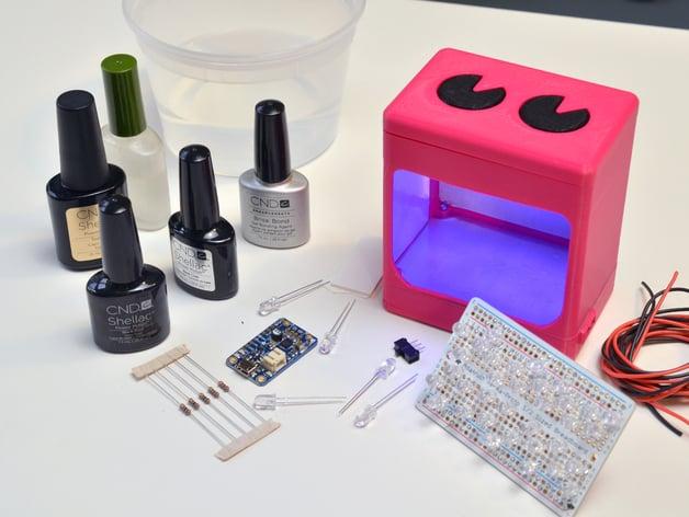 Travel Uv Manicure Lamp By Adafruit Thingiverse