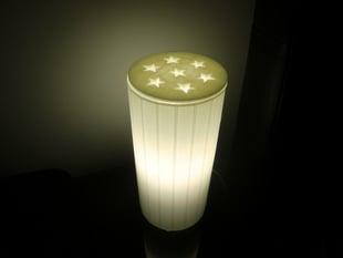 Ikea KVARNÃ… table lamp stars cover